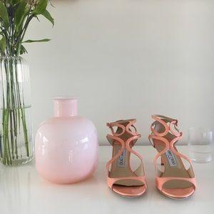 Jimmy Choo Lila Patent Crisscross Sandal